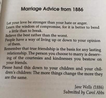 1866 marriage advice