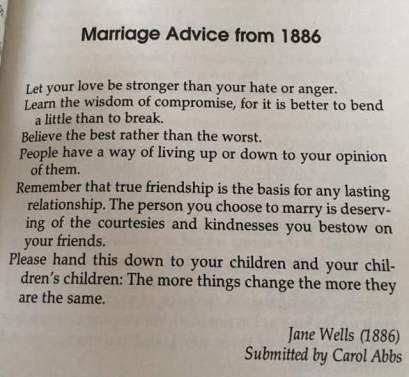 1866 marriage advice